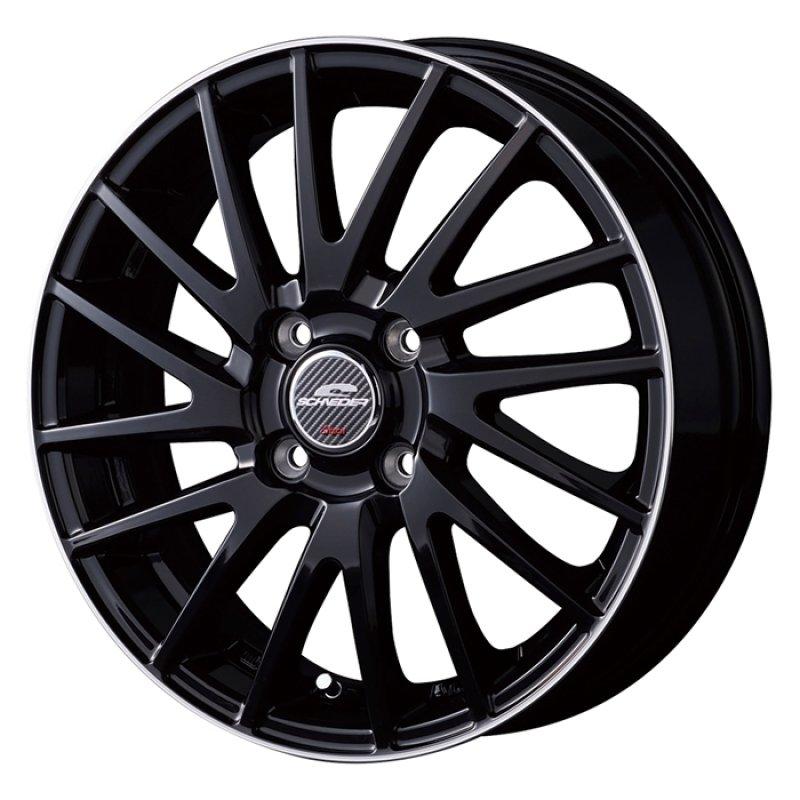 【14インチ サマー】175/65R14 ヨコハマタイヤ BluEarth-A AE50 & SCHNEIDER Saber Rondo (タイヤホイール4本セット)